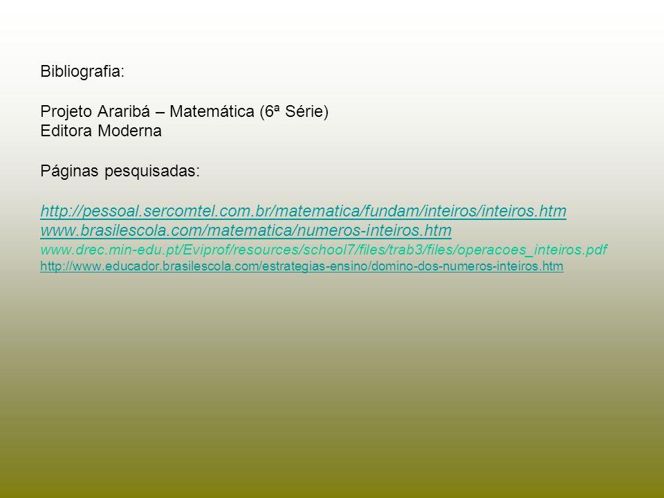 Projeto Araribá – Matemática (6ª Série) Editora Moderna