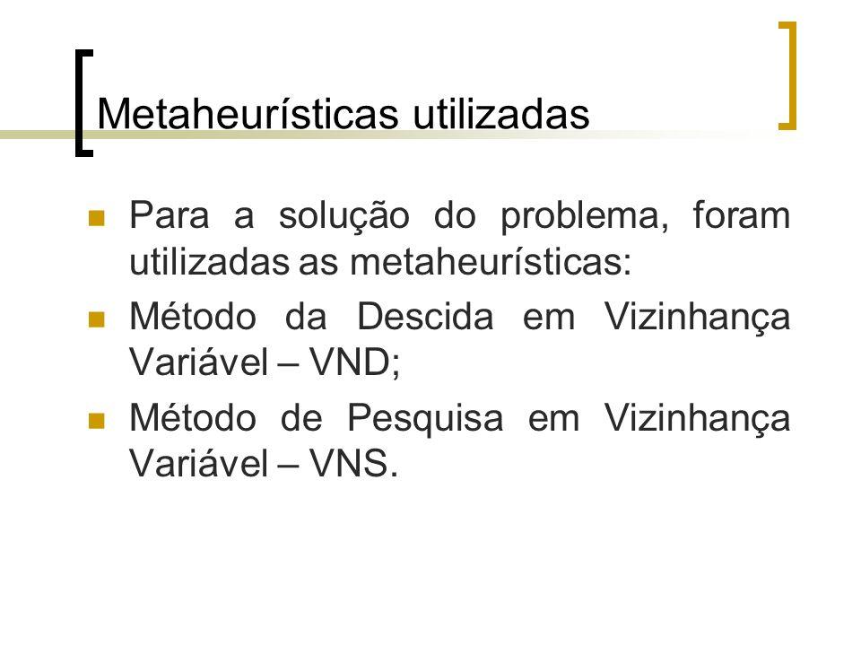 Metaheurísticas utilizadas