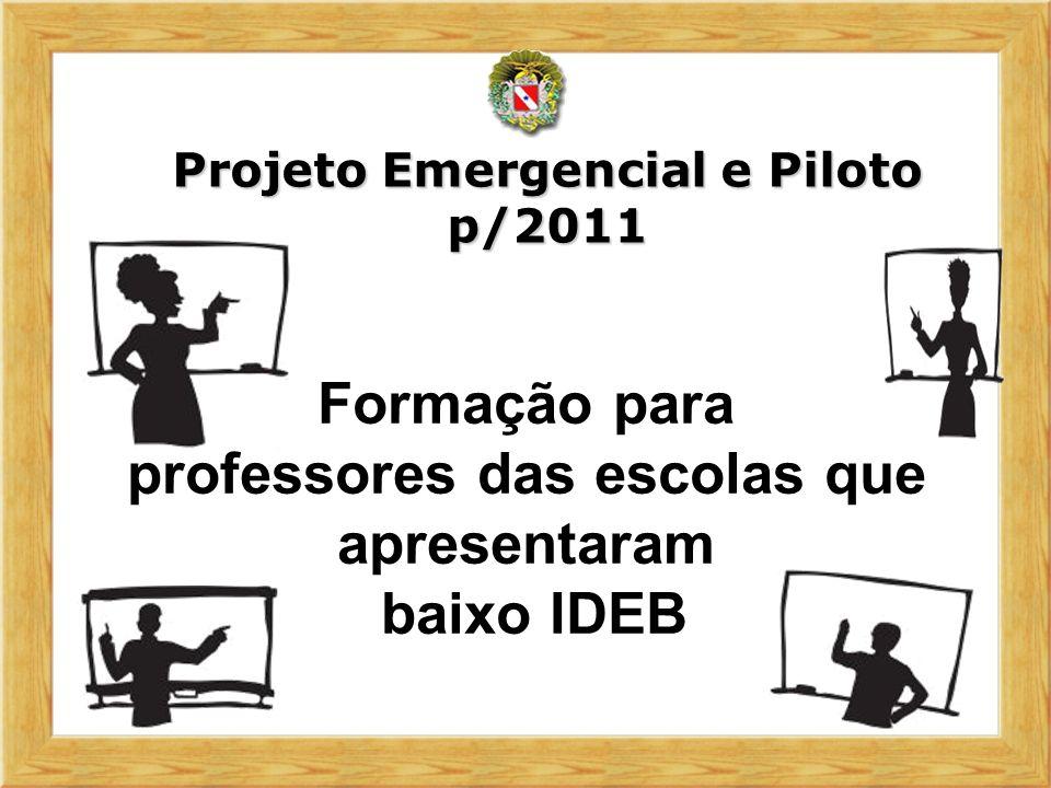 Formação para professores das escolas que apresentaram baixo IDEB