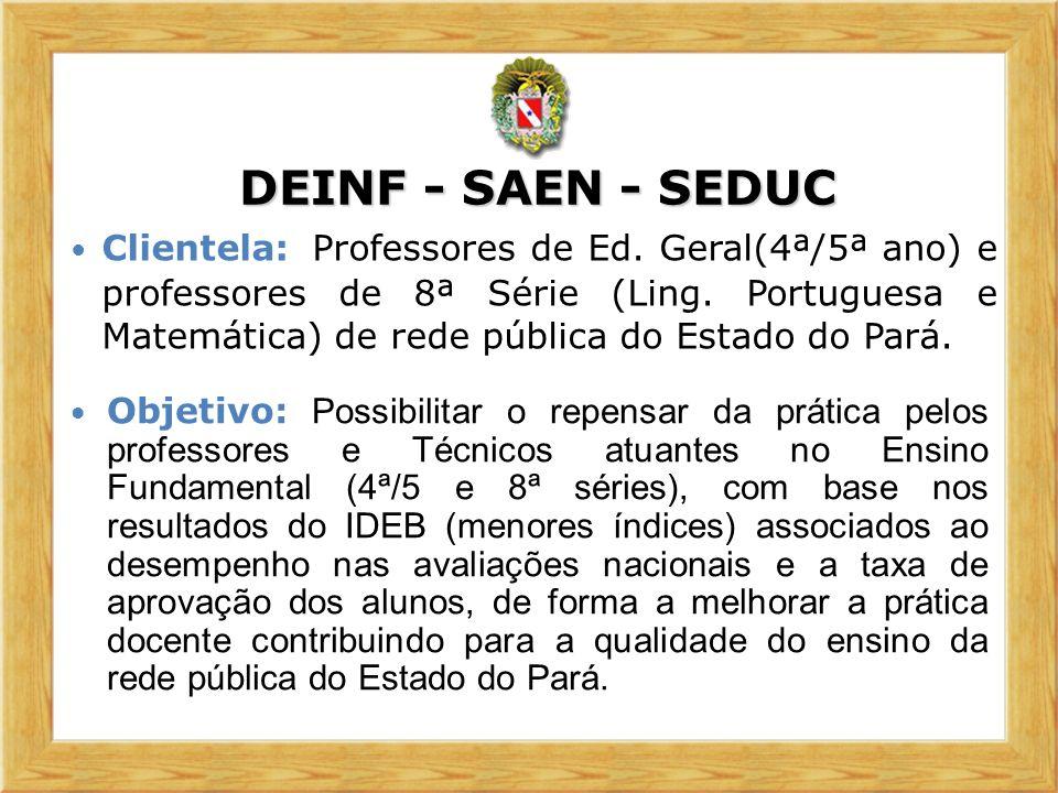 DEINF - SAEN - SEDUC