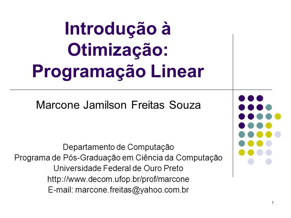 Introdução à Otimização: Programação Linear