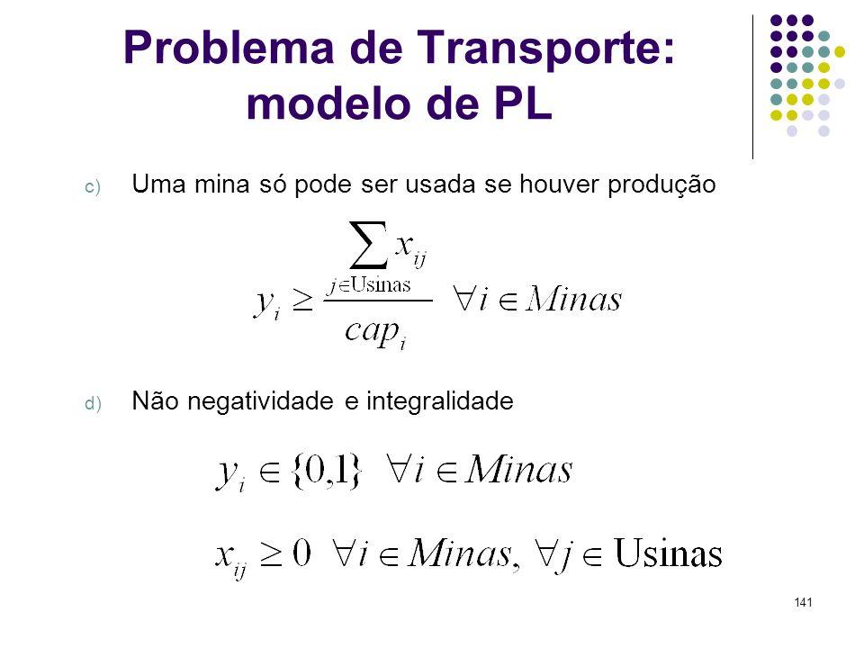 Problema de Transporte: modelo de PL