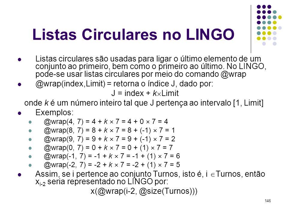 Listas Circulares no LINGO