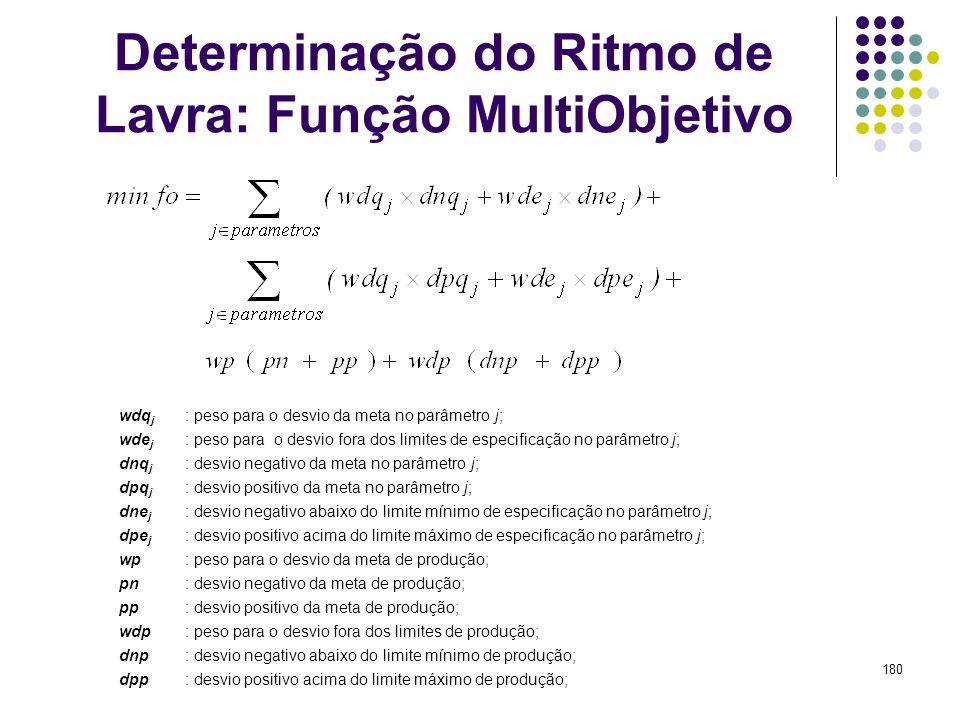 Determinação do Ritmo de Lavra: Função MultiObjetivo