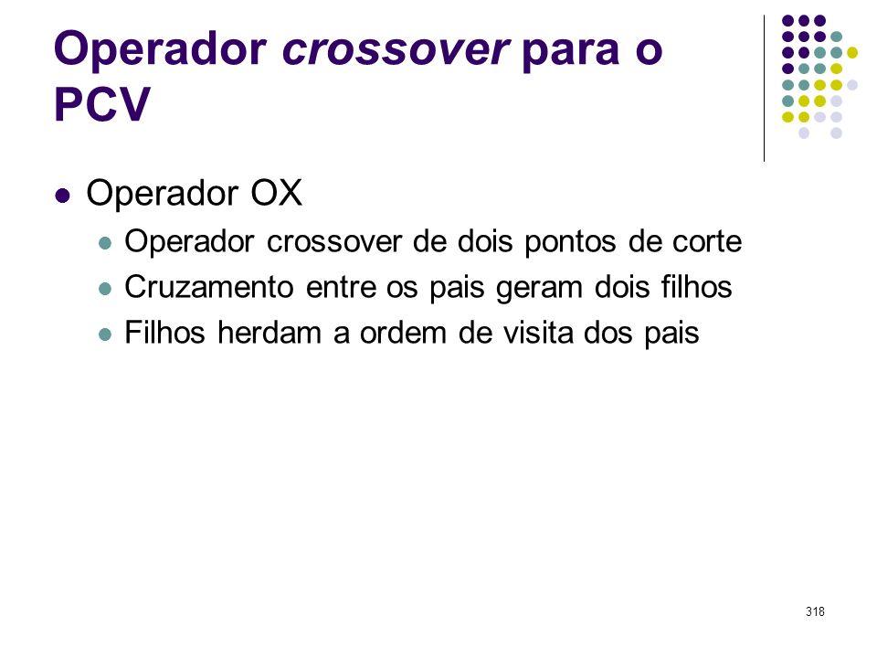 Operador crossover para o PCV