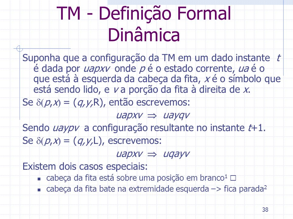 TM - Definição Formal Dinâmica