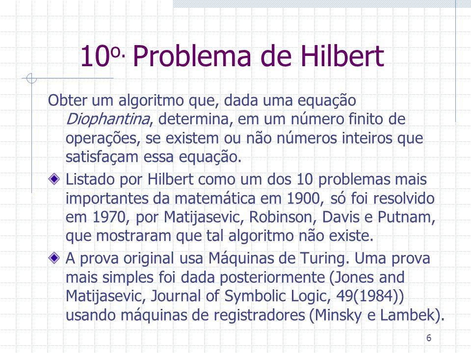10o. Problema de Hilbert