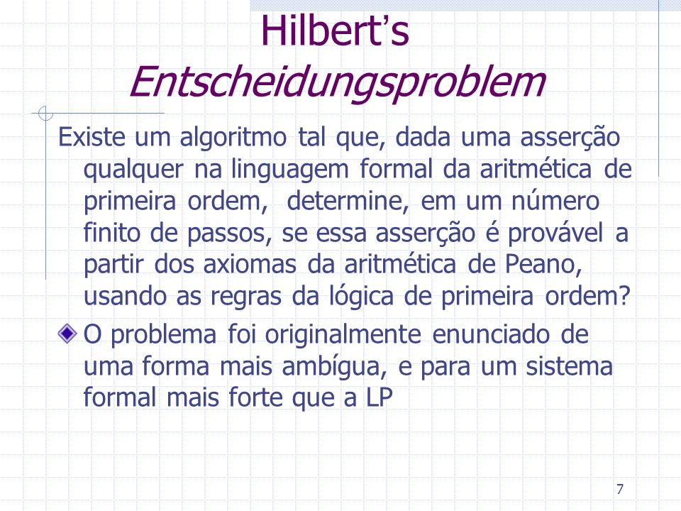 Hilbert's Entscheidungsproblem