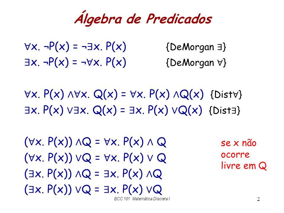 BCC 101 Matemática Discreta I