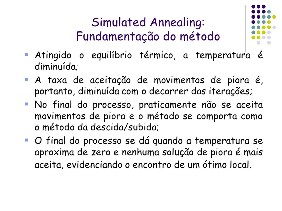 Simulated Annealing: Fundamentação do método
