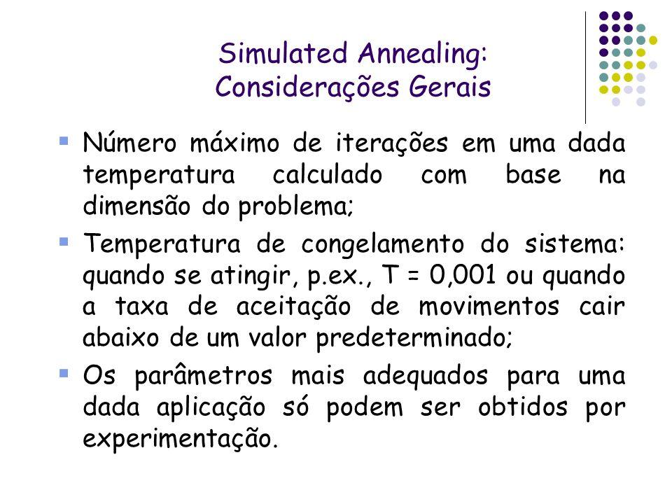 Simulated Annealing: Considerações Gerais