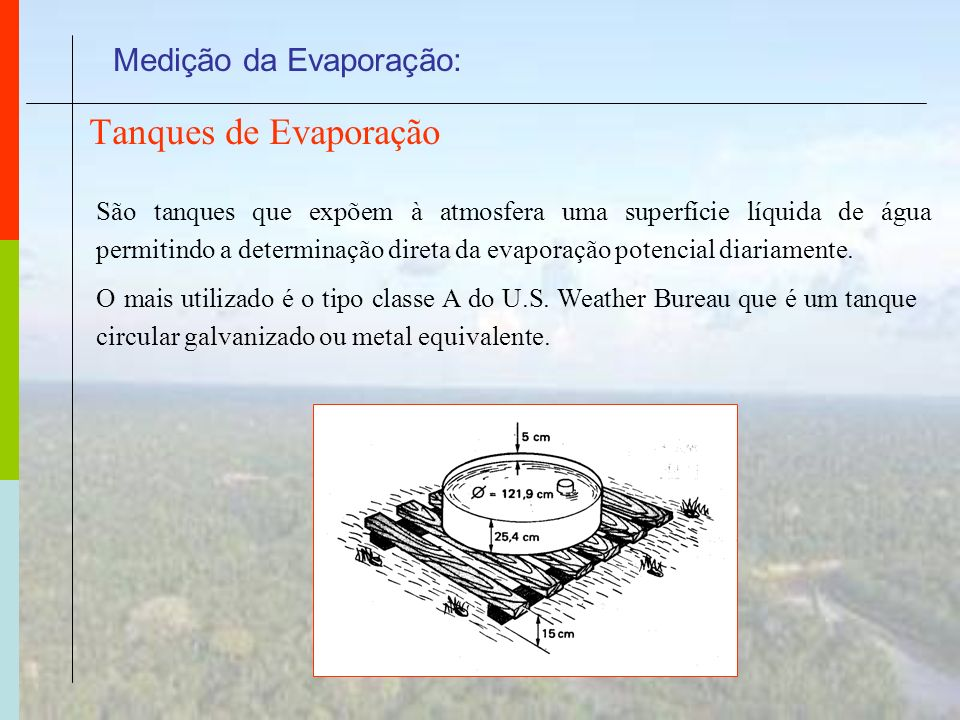 Medição da Evaporação:
