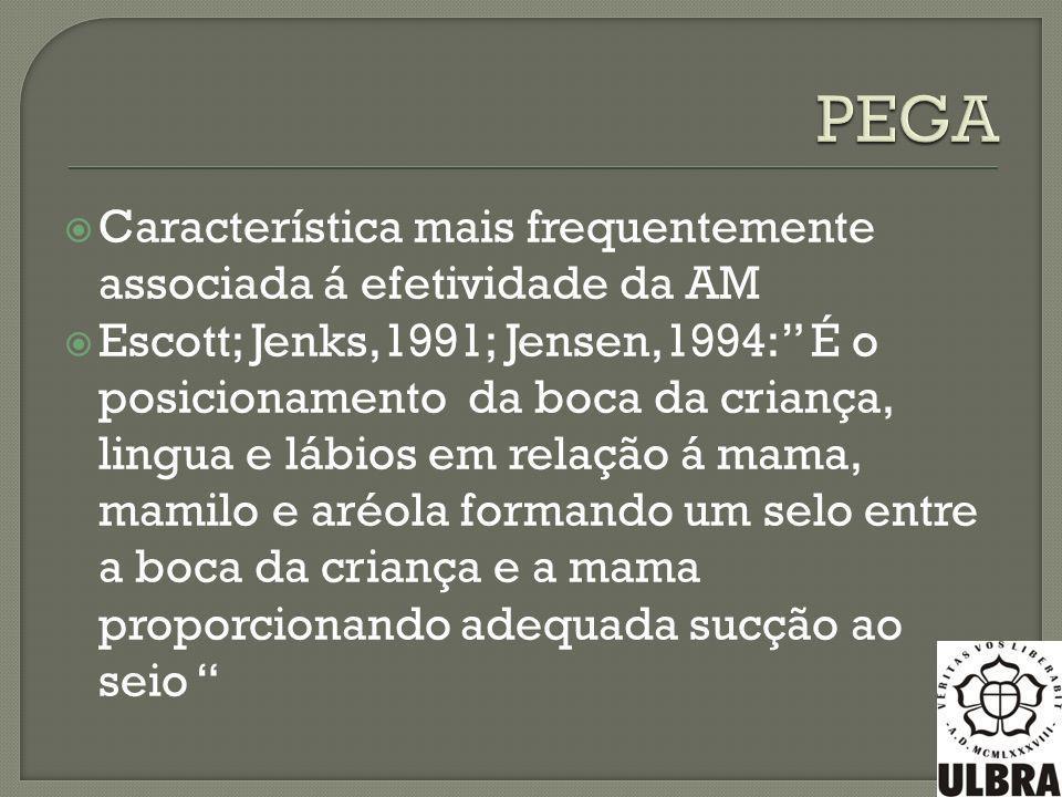 PEGA Característica mais frequentemente associada á efetividade da AM