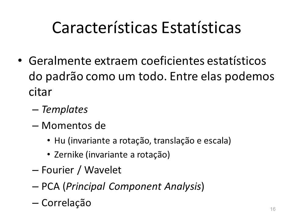 Características Estatísticas