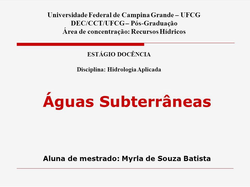 Aluna de mestrado: Myrla de Souza Batista