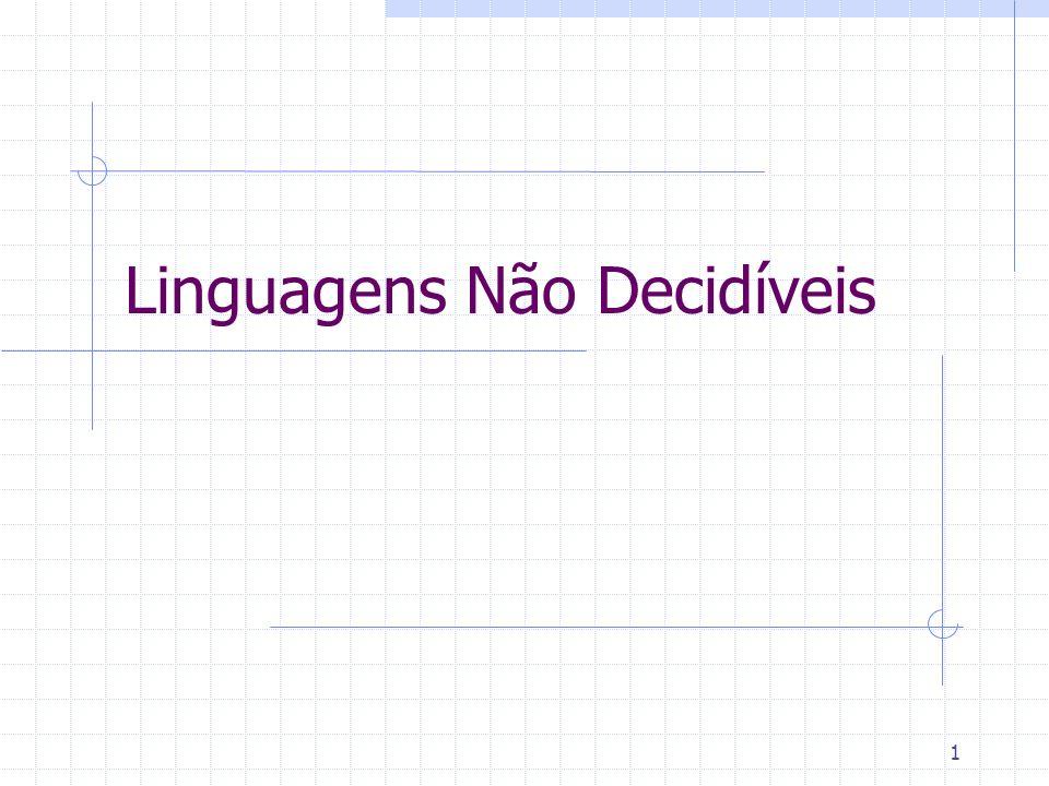 Linguagens Não Decidíveis
