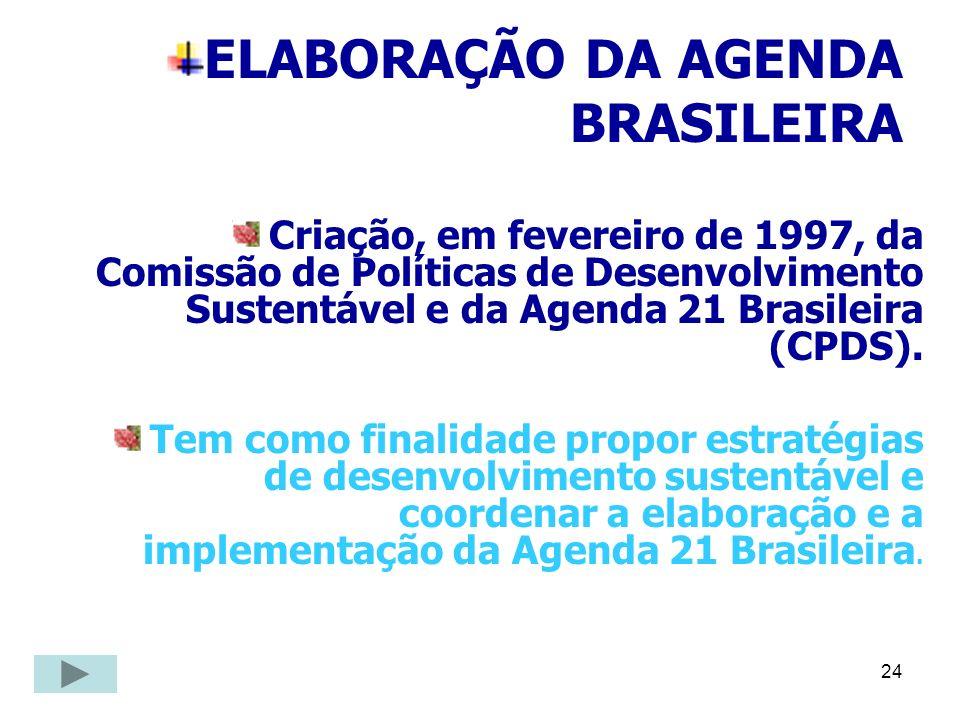 ELABORAÇÃO DA AGENDA BRASILEIRA