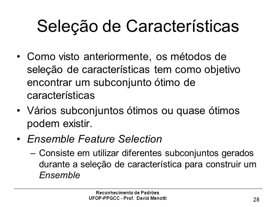 Seleção de Características