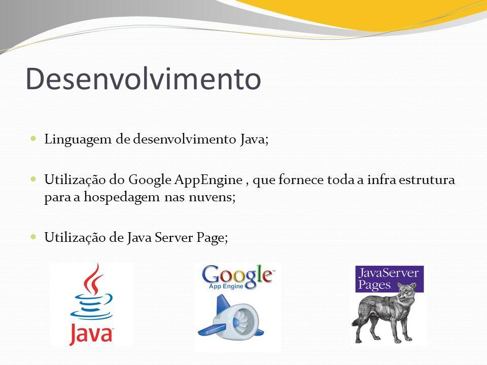 Desenvolvimento Linguagem de desenvolvimento Java;
