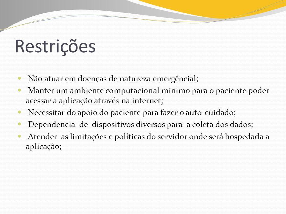Restrições Não atuar em doenças de natureza emergêncial;