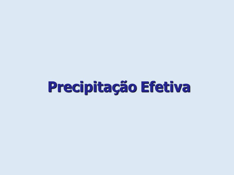 Precipitação Efetiva