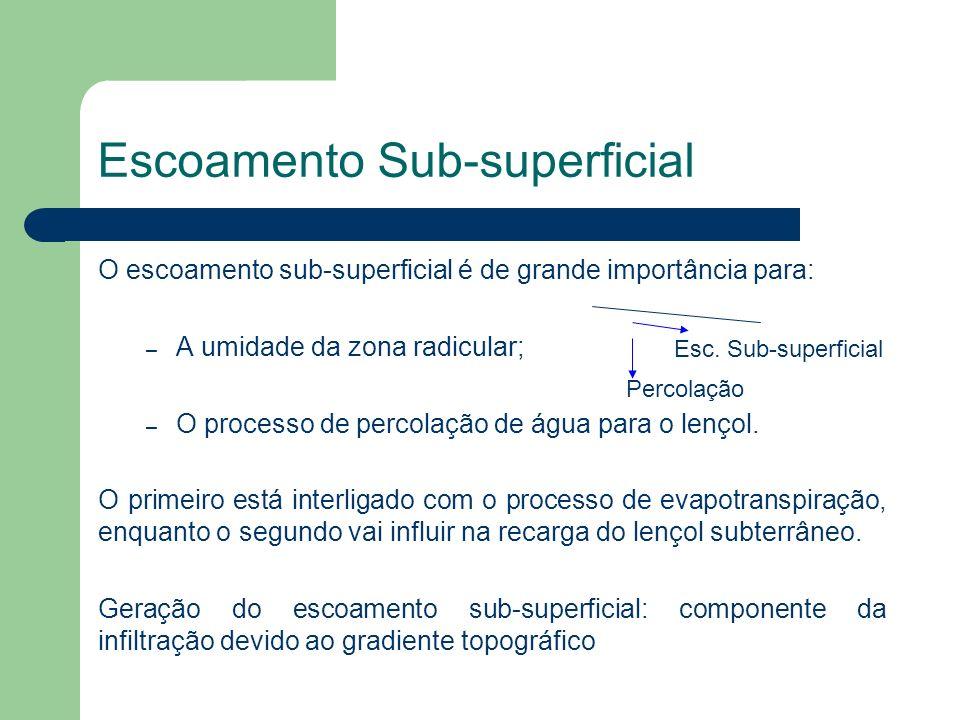 Escoamento Sub-superficial
