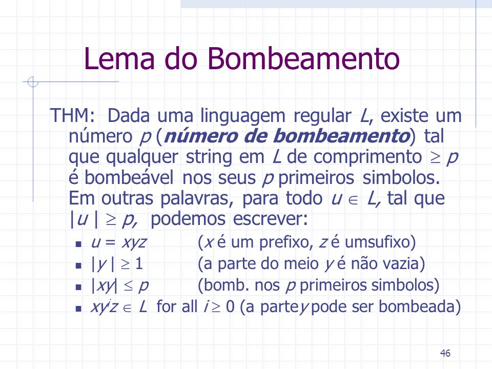 Lema do Bombeamento