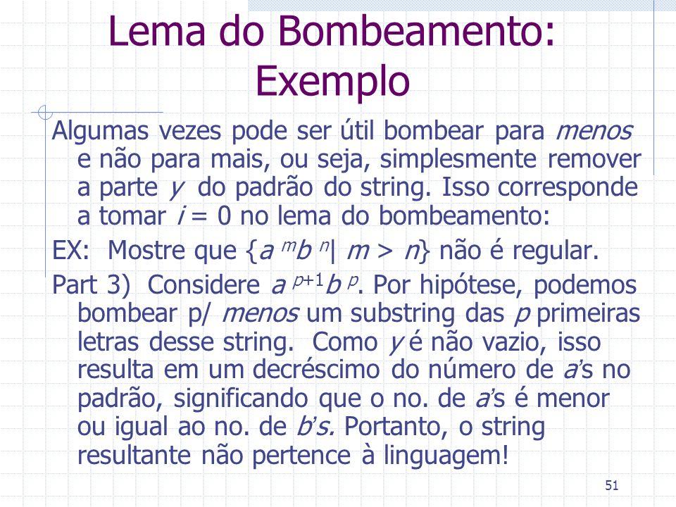 Lema do Bombeamento: Exemplo
