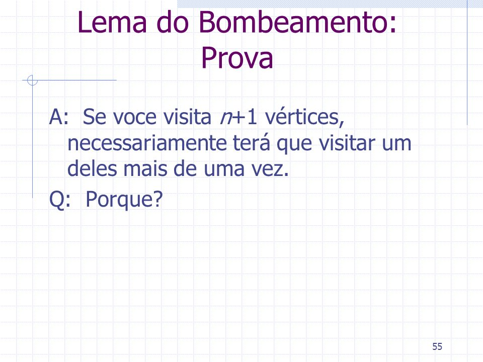 Lema do Bombeamento: Prova