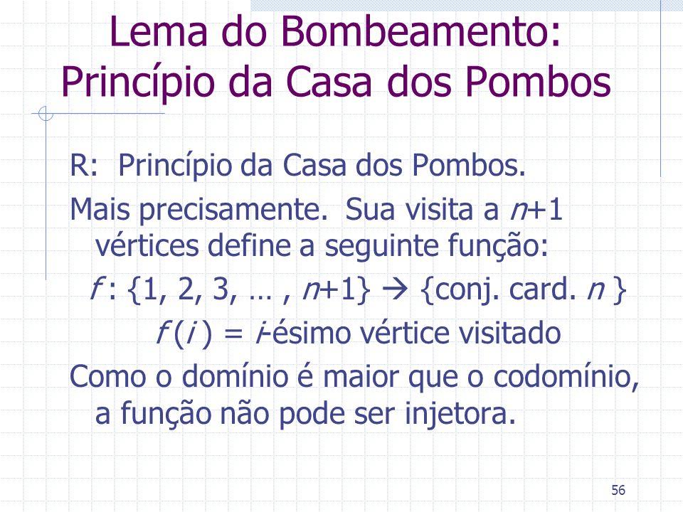 Lema do Bombeamento: Princípio da Casa dos Pombos