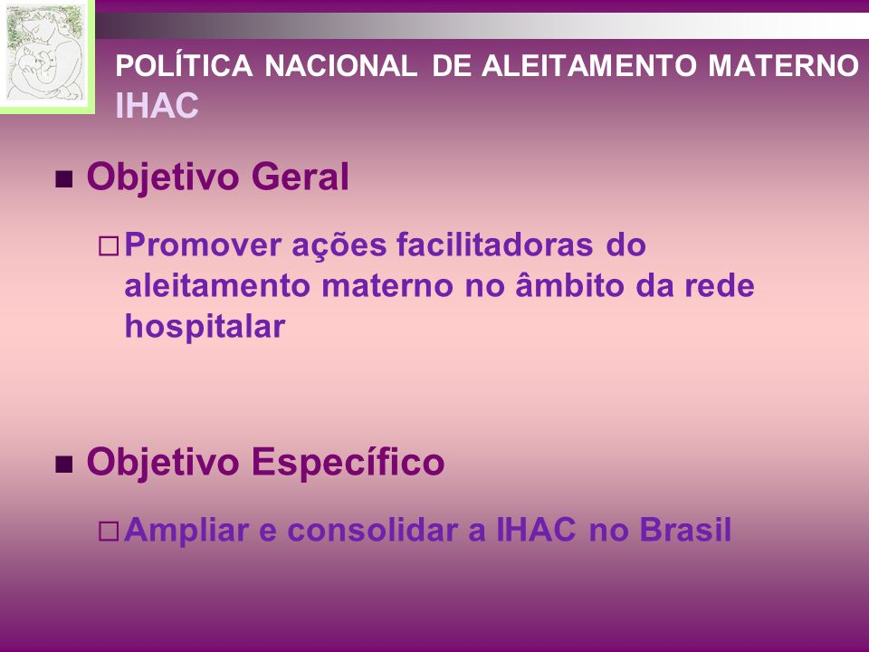 POLÍTICA NACIONAL DE ALEITAMENTO MATERNO IHAC