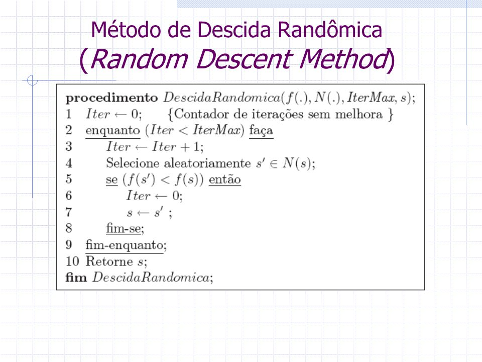 Método de Descida Randômica (Random Descent Method)