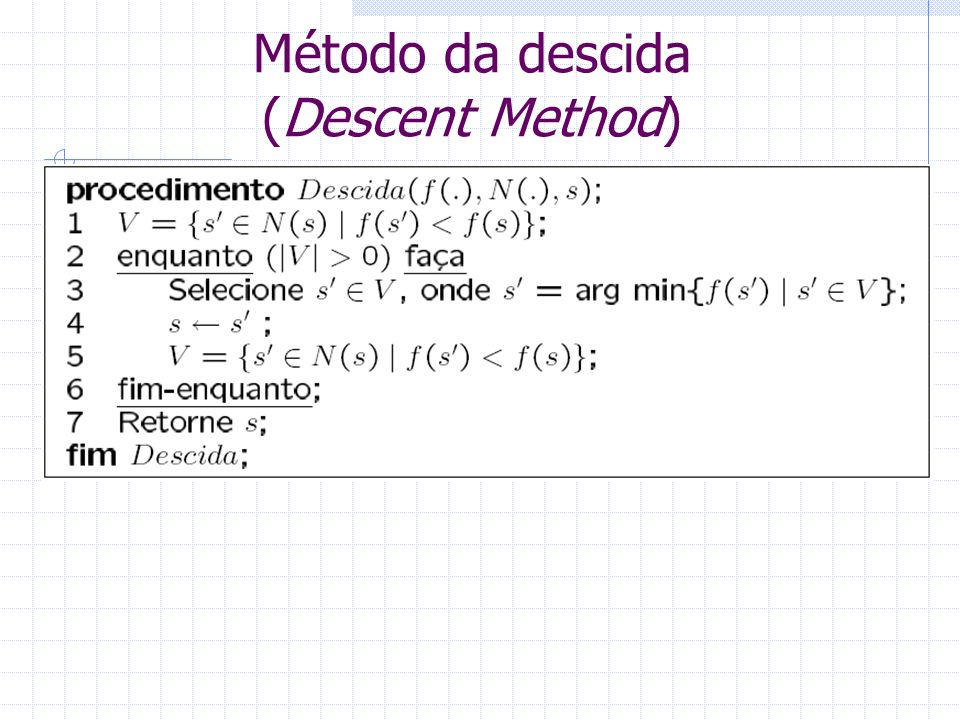 Método da descida (Descent Method)