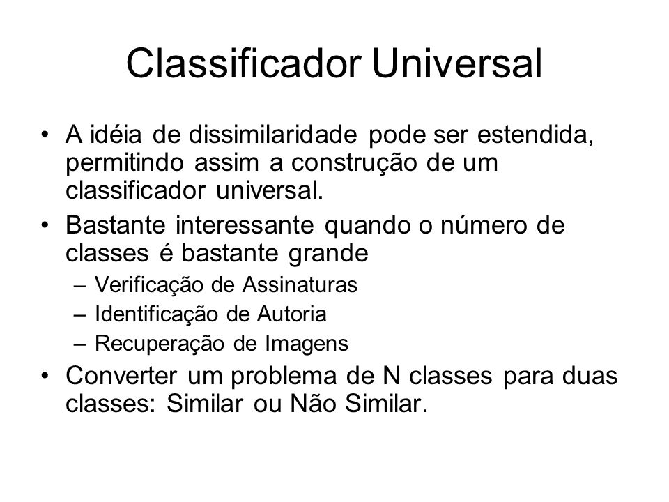 Classificador Universal