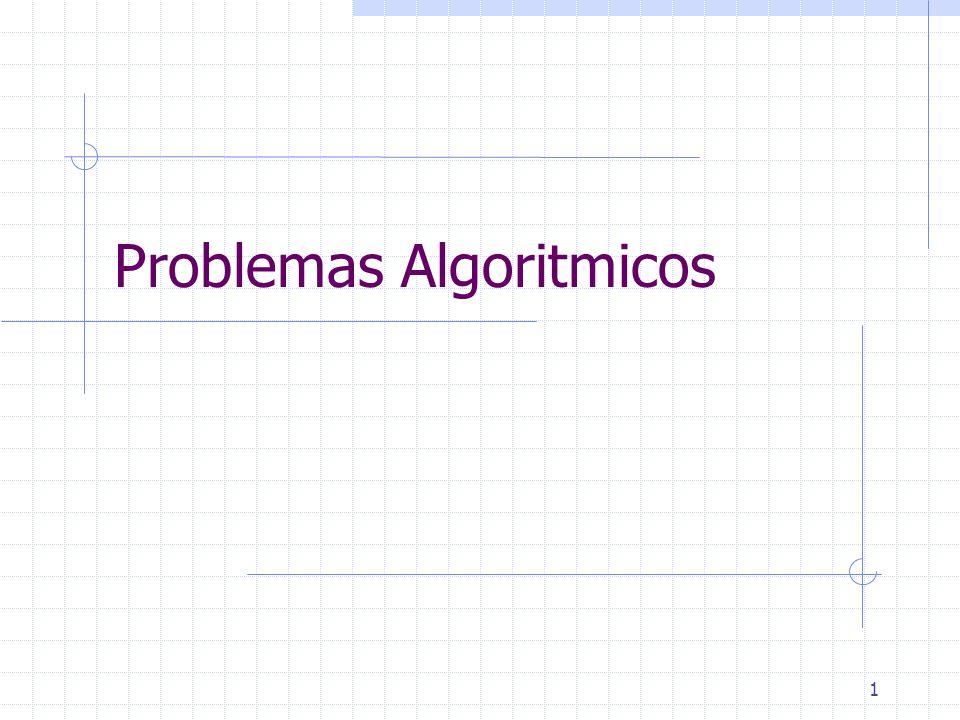 Problemas Algoritmicos