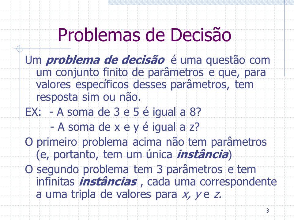 Problemas de Decisão