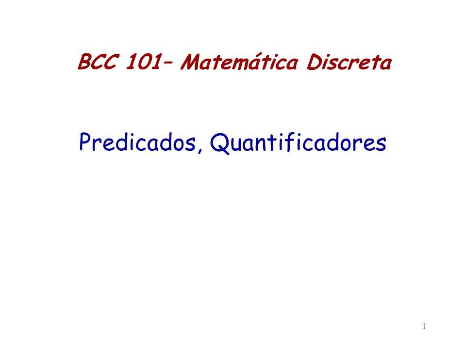 BCC 101– Matemática Discreta