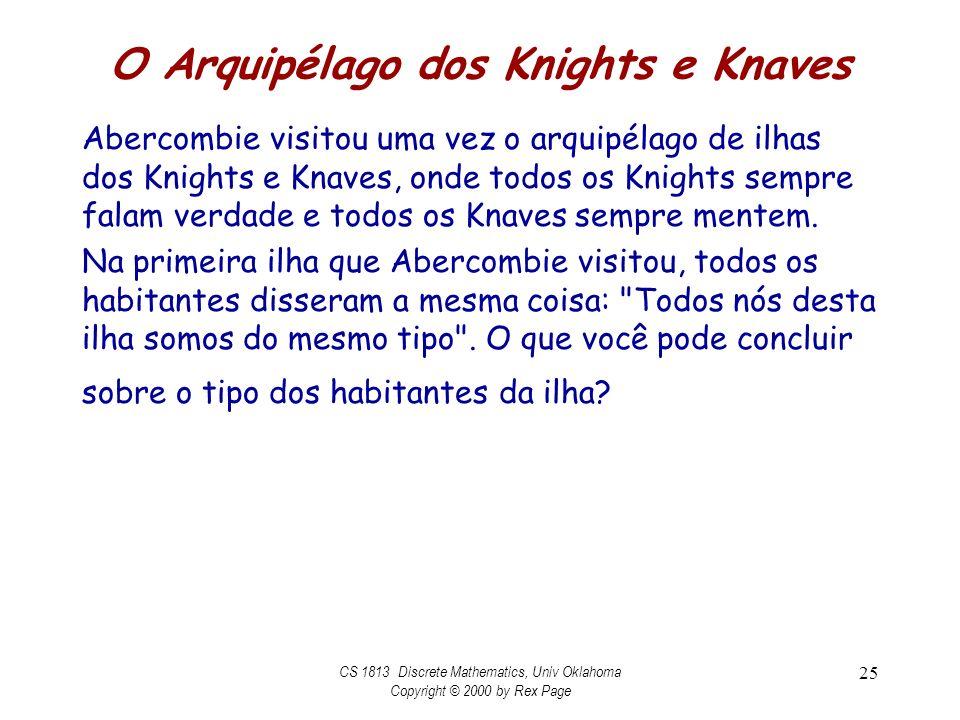O Arquipélago dos Knights e Knaves