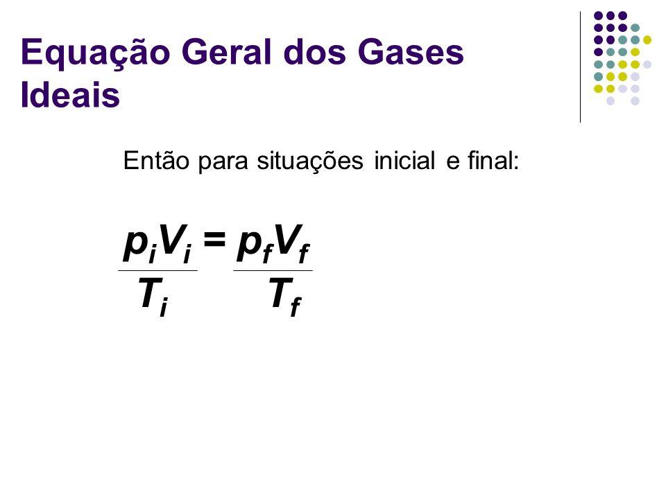 Equação Geral dos Gases Ideais