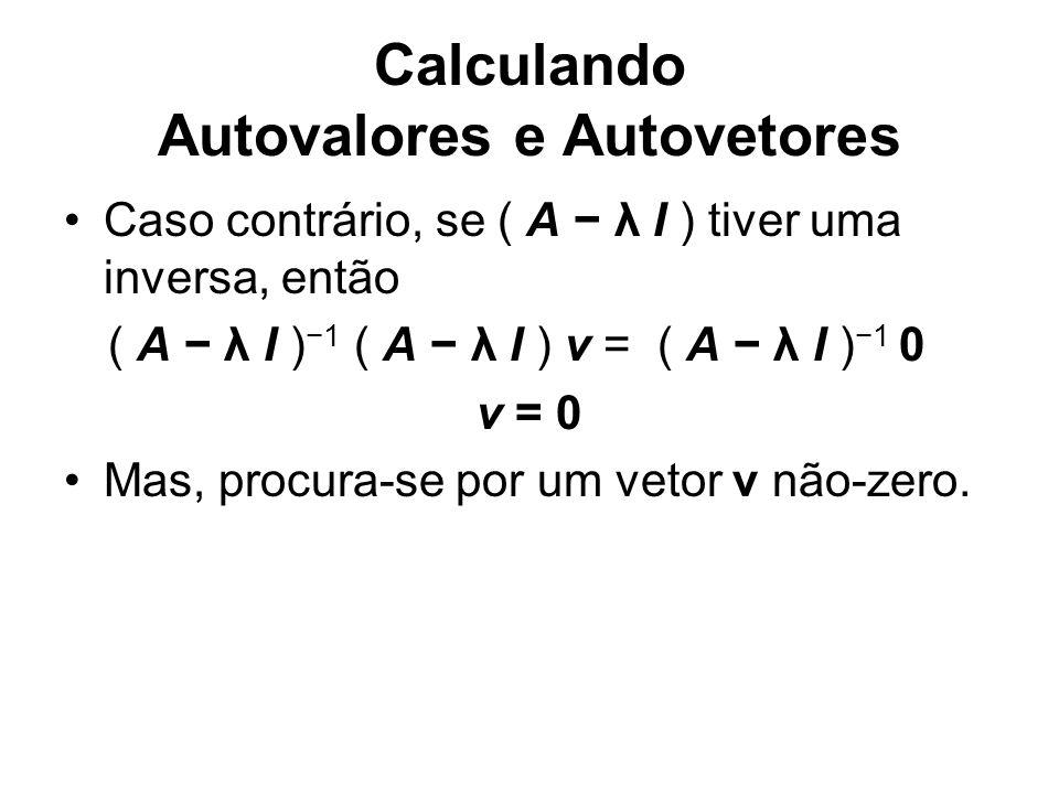 Calculando Autovalores e Autovetores