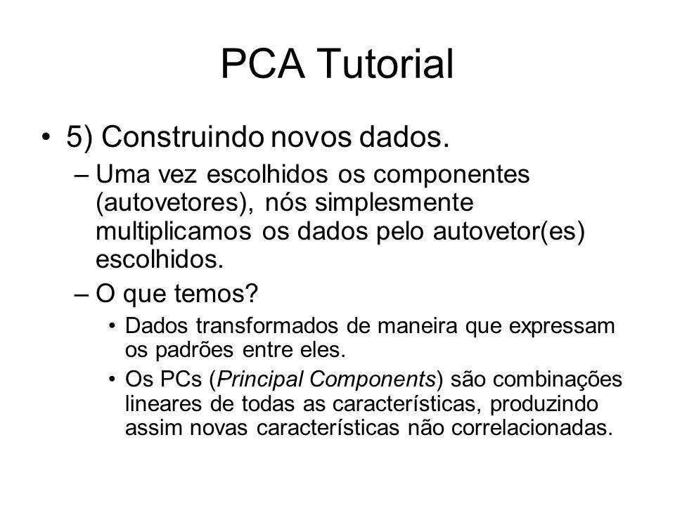 PCA Tutorial 5) Construindo novos dados.