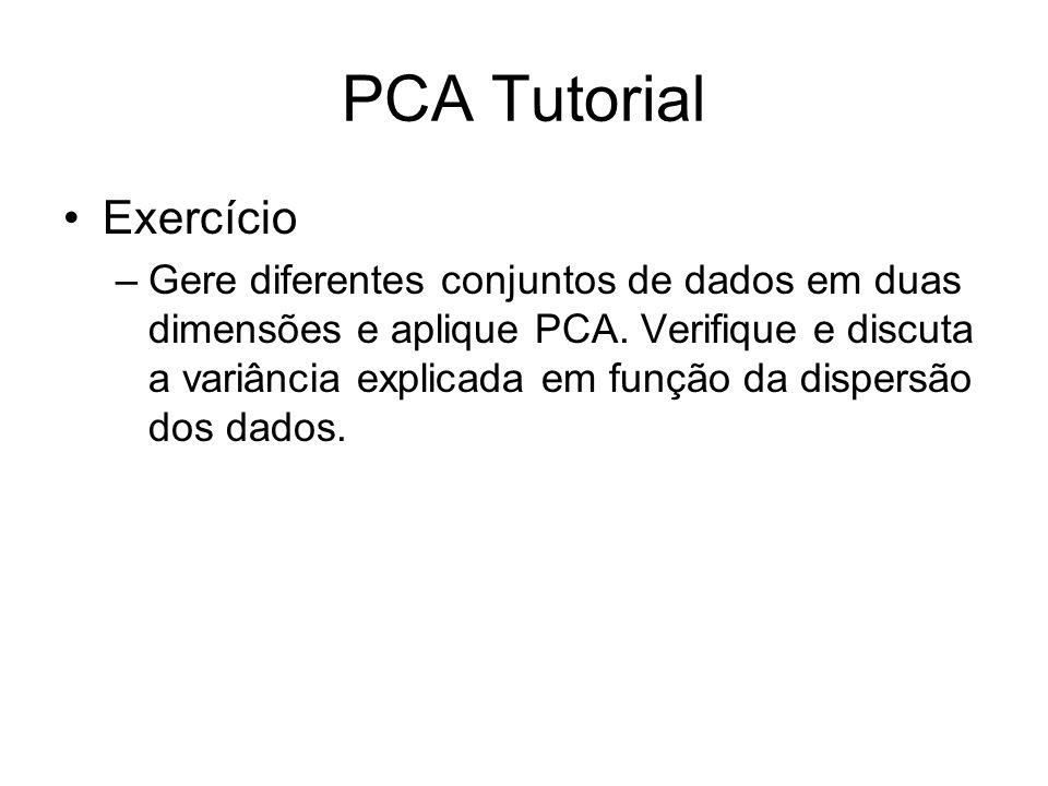 PCA Tutorial Exercício