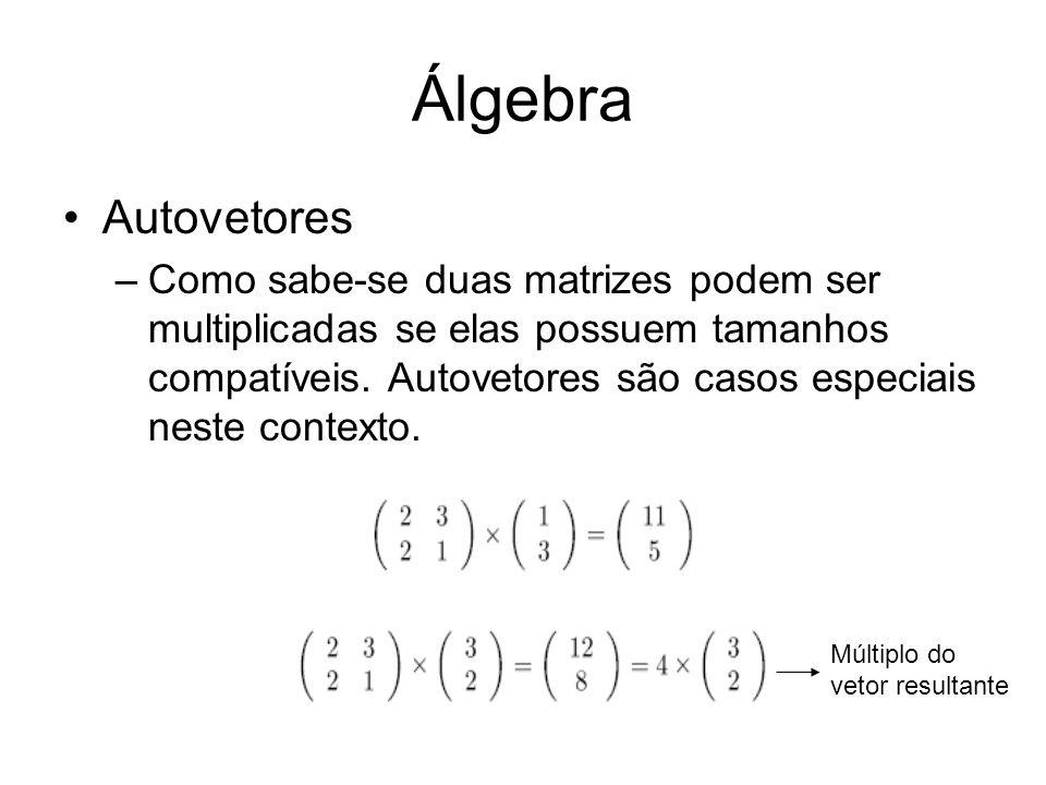 Álgebra Autovetores.