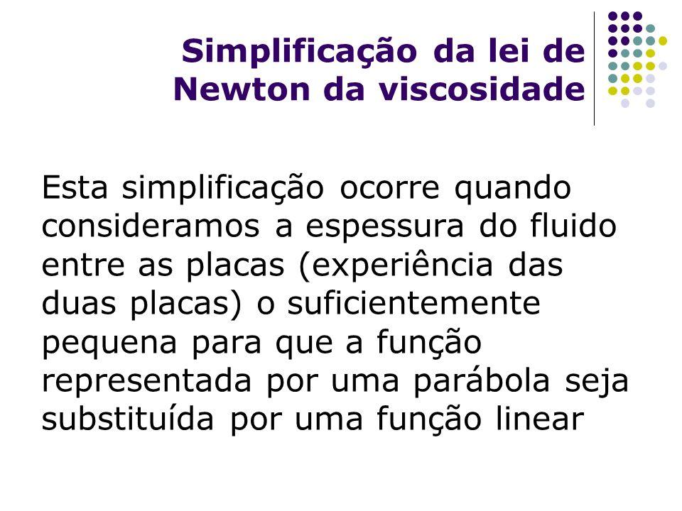 Simplificação da lei de Newton da viscosidade