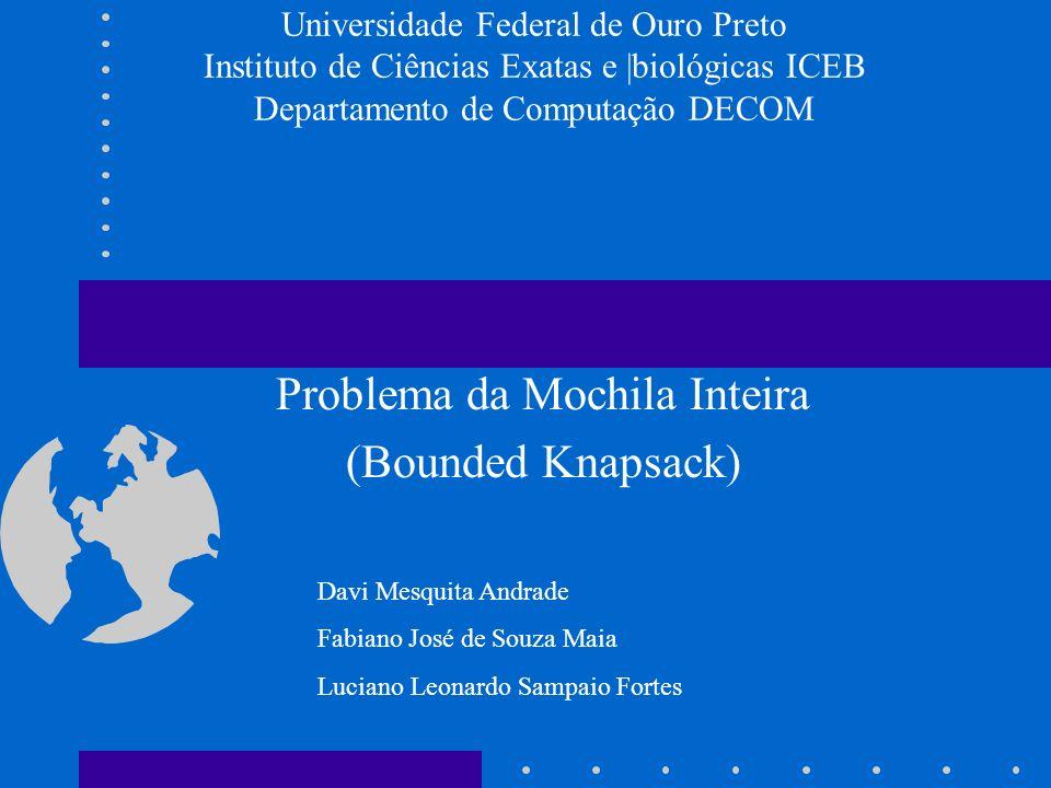 Problema da Mochila Inteira (Bounded Knapsack)