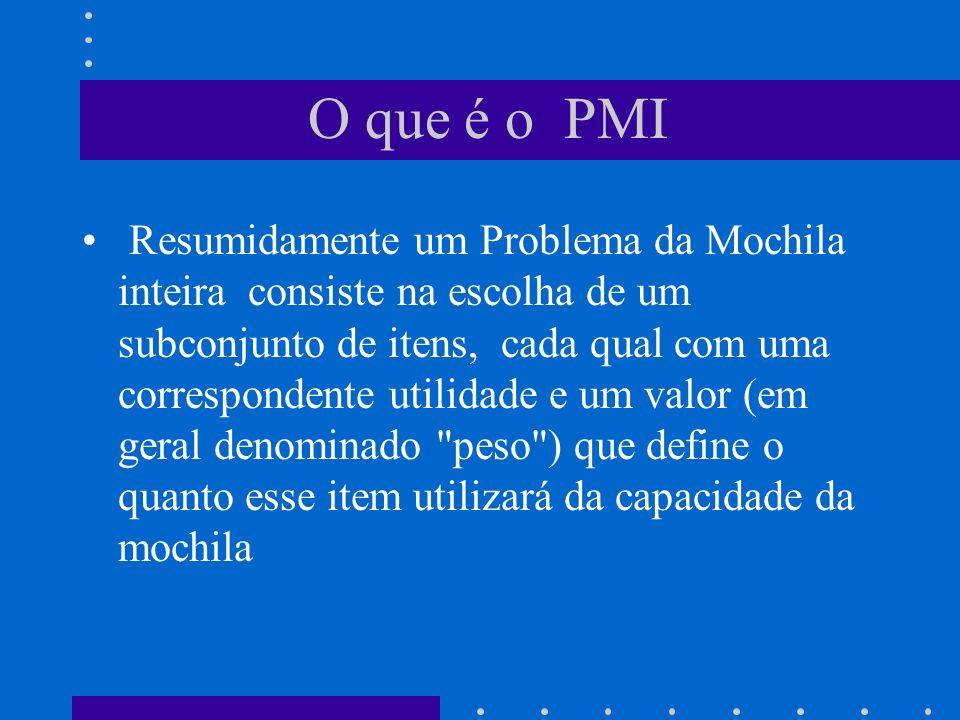 O que é o PMI