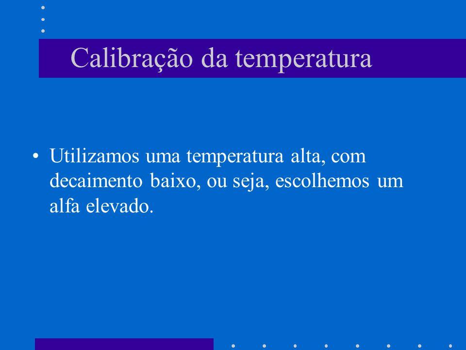 Calibração da temperatura