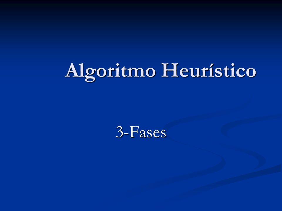 Algoritmo Heurístico 3-Fases
