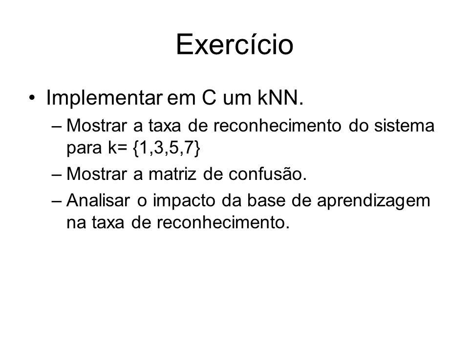 Exercício Implementar em C um kNN.