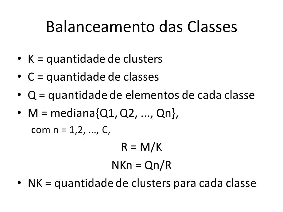 Balanceamento das Classes